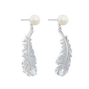 SWAROVSKI NICE feather earrings